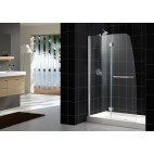 "AQUA Shower Doors- fits opening 48"" or wider"