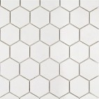 "White Thassos 2"" Hexagon"